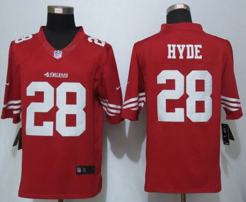 nike-49ers-28-carlos-hyde-red-team-color-men-s-stitched-nfl-limited-jersey