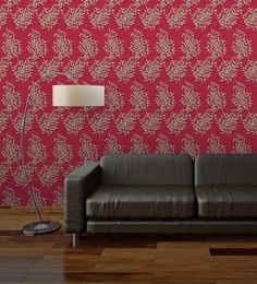 wallskin-maroon-non-woven-paper-the-dandelion-wall-wallpaper-wallskin-maroon-non-woven-paper-the-dan-tlvalp